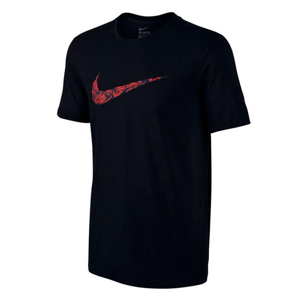 NIKE Men's Palm Swoosh Short-Sleeve Tee - BLACK/CRIMSON-010