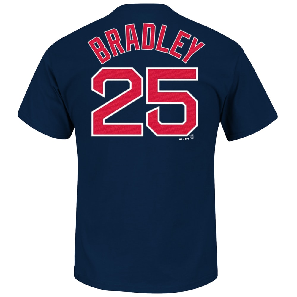 BOSTON RED SOX Men's Jackie Bradley #25 Name & Number Tee - ASSORTED