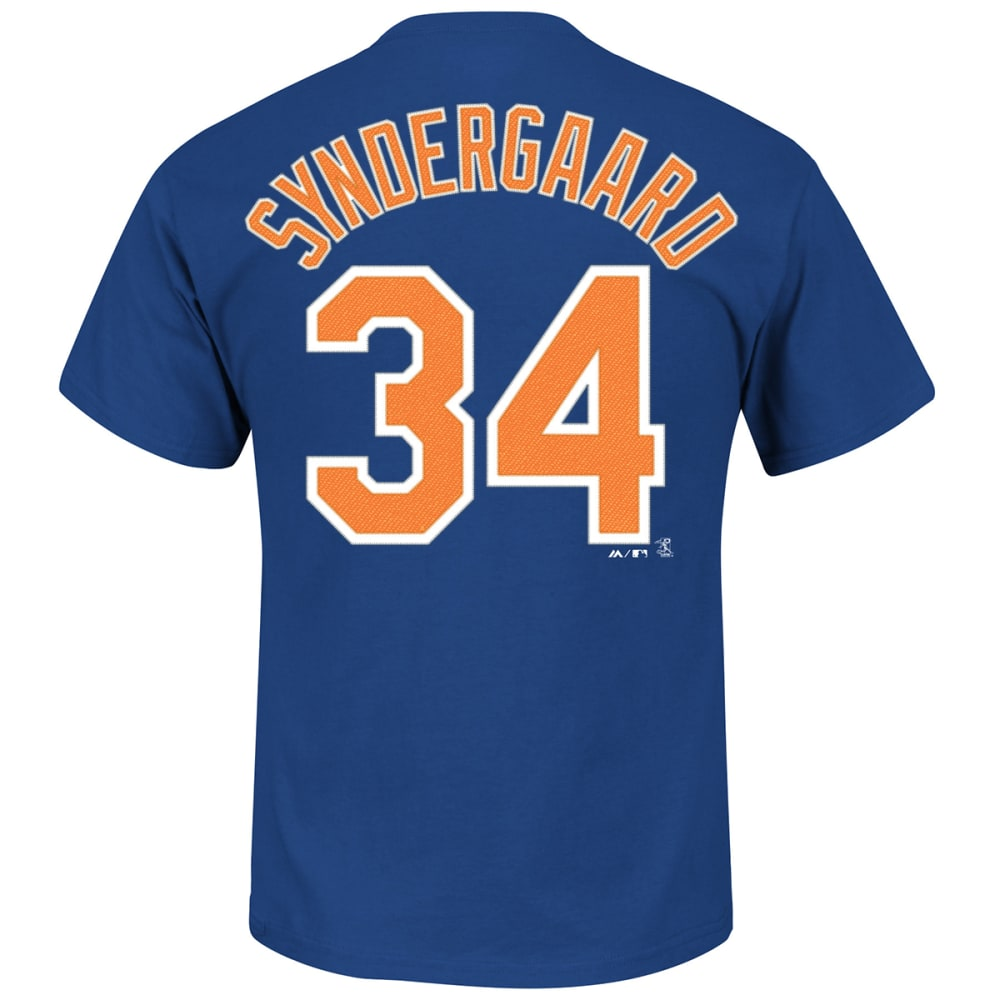 NEW YORK METS Men's Noah Syndergaard #34 Name & Number Tee - ROYAL BLUE