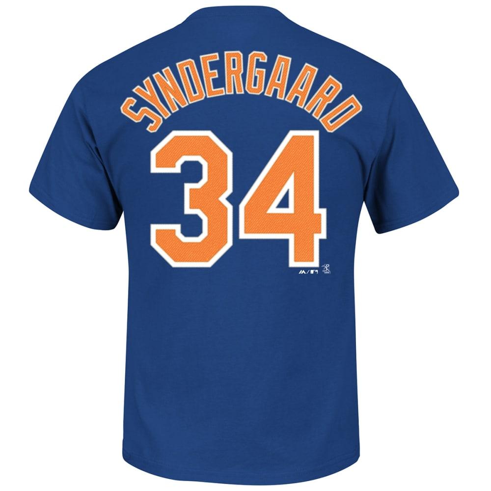 NEW YORK METS Men's Noah Syndergaard #34 Name & Number Tee - ROYAL BLUE