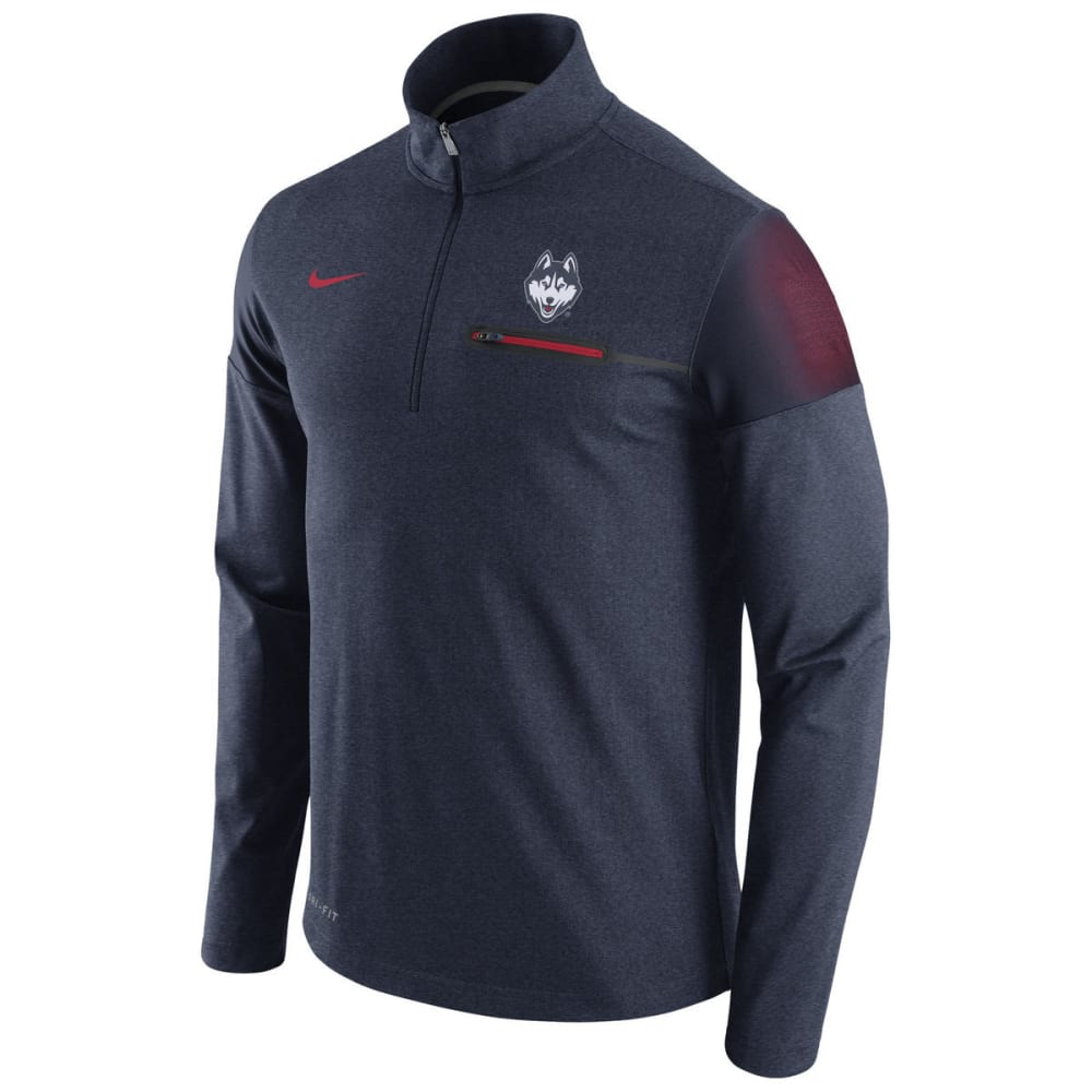 NIKE Men's UConn Elite Coaches 1/2-Zip Pullover - NAVY