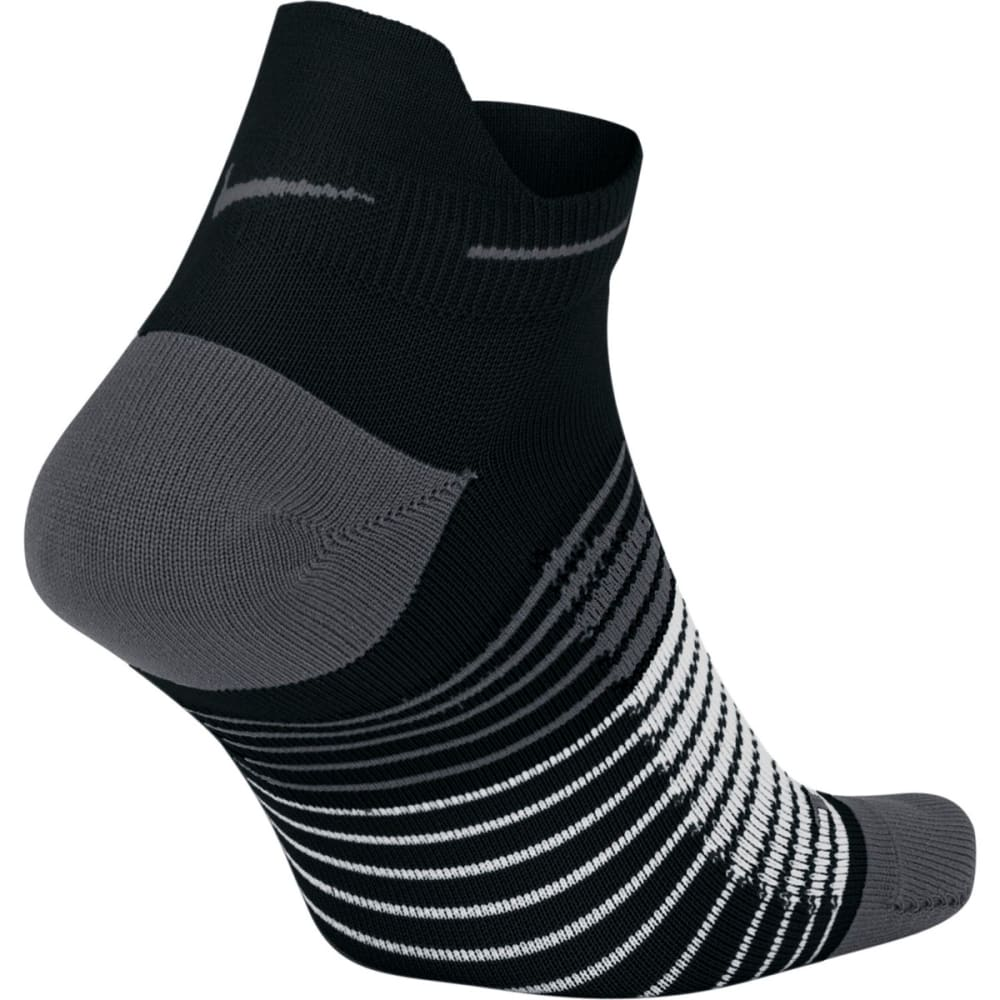 NIKE Men's Dri-FIT Lightweight No-Show Tab Running Socks - BLACK/GREY 010