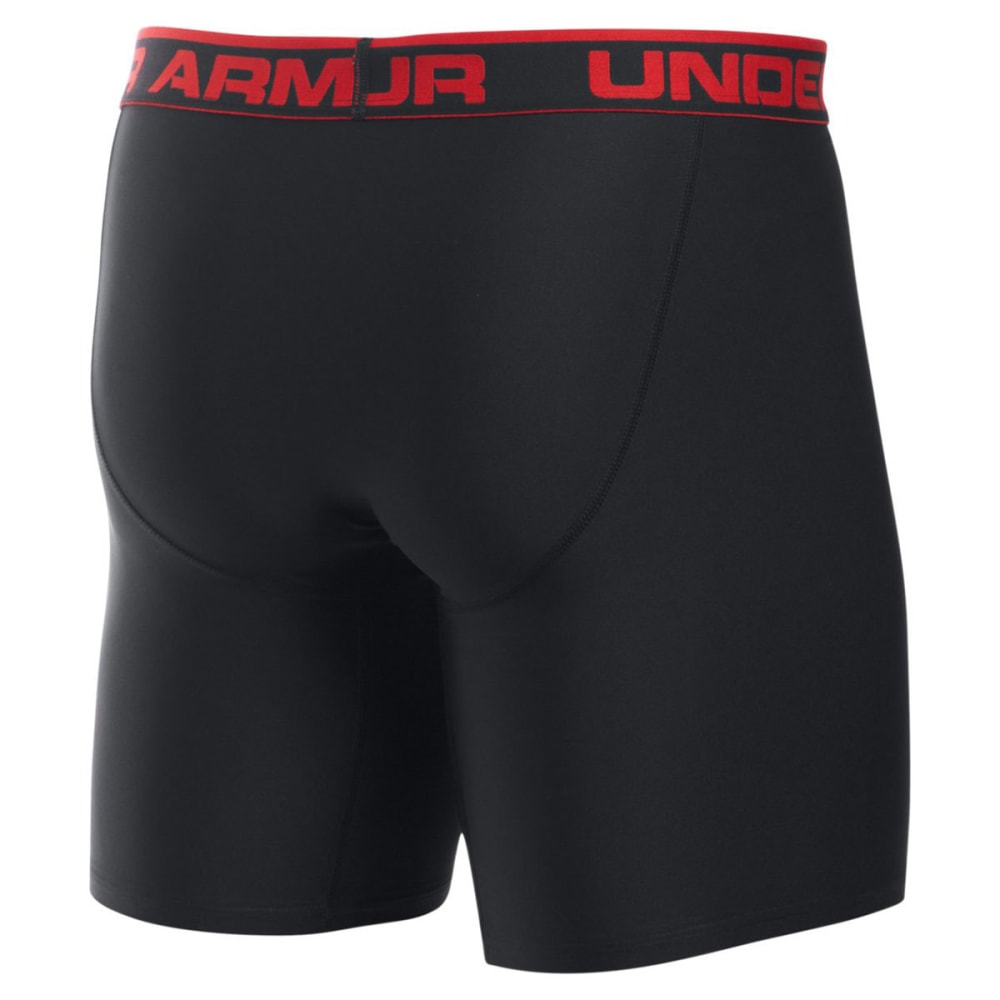 UNDER ARMOUR Men's Original Series 9 in. Boxerjock Briefs - 001 BLK/RED