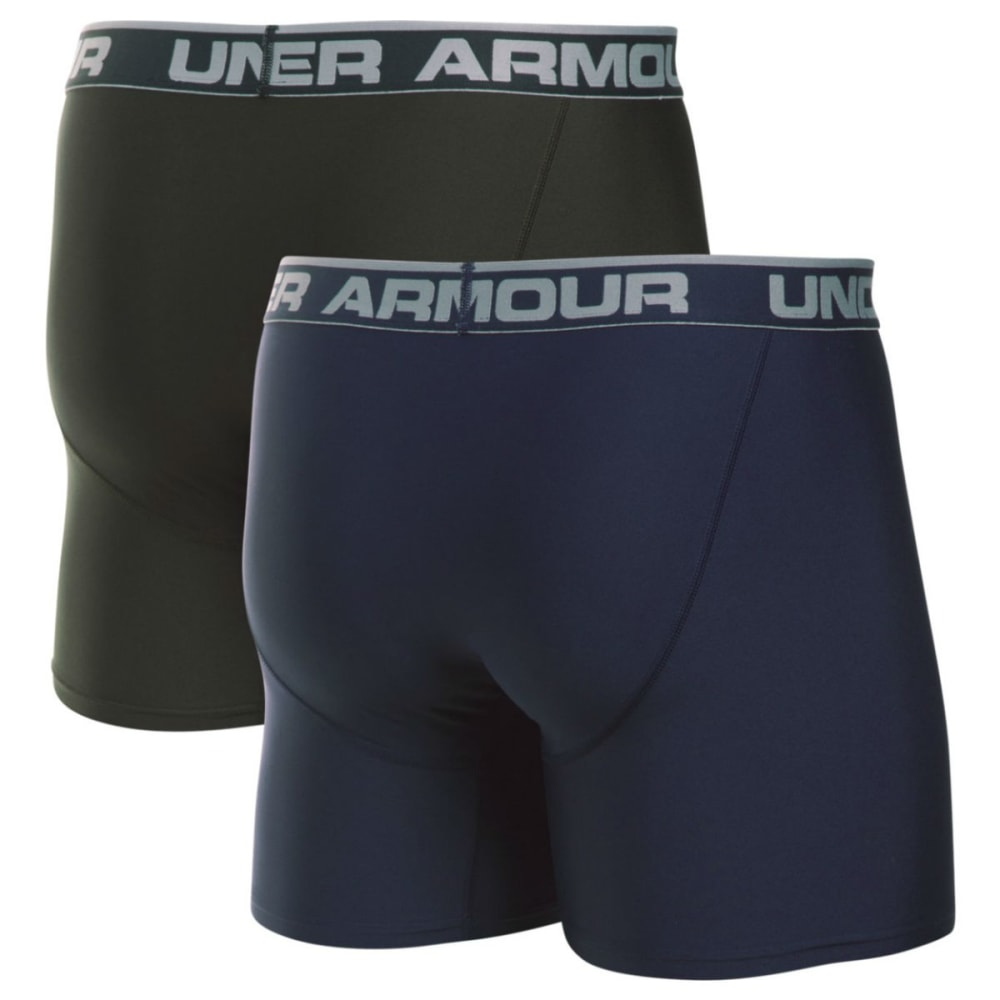 UNDER ARMOUR Men's Original Series 6 in. Boxerjock Shorts, 2 Pack - 412 MIDNGT