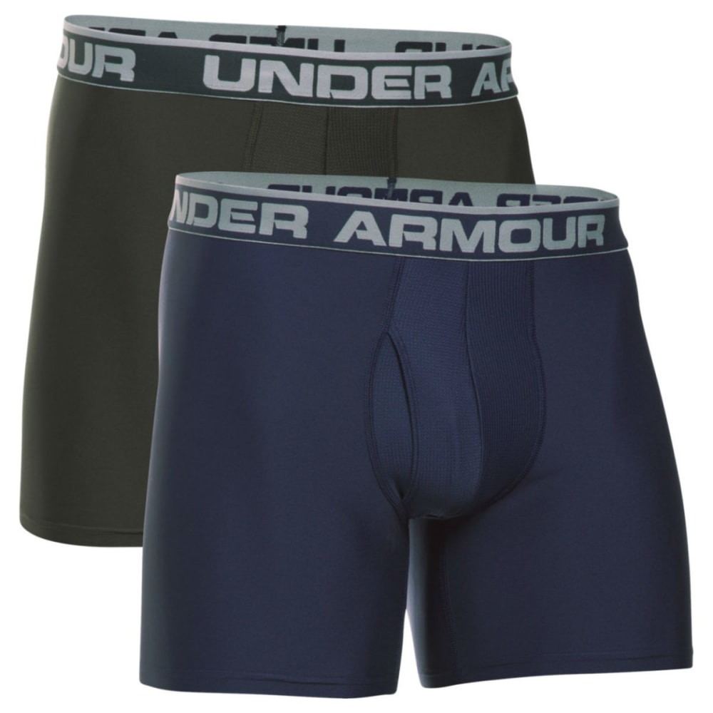 UNDER ARMOUR Men's Original Series 6 in. Boxerjock Shorts, 2 Pack - 412 MIDNGT
