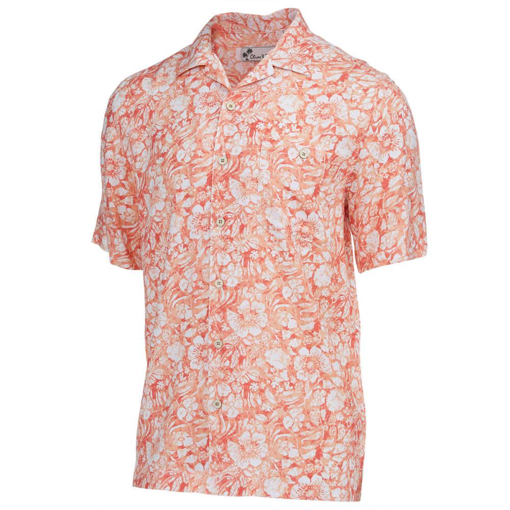 OLIVER & BURKE Men's Mystic Batik Short-Sleeve Woven Shirt - CORAL