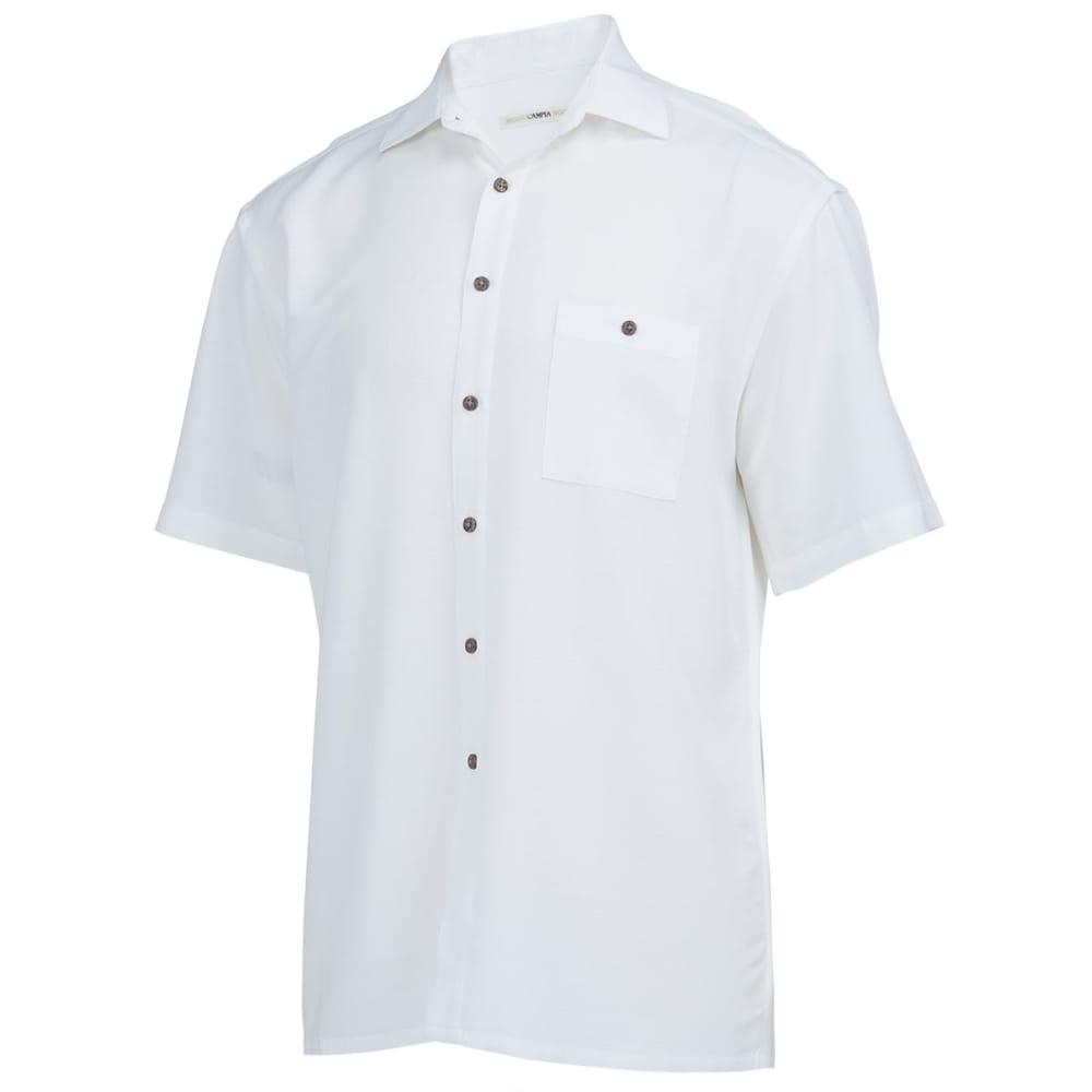 CAMPIA Men's Solid Slub Woven Shirt - NATURAL