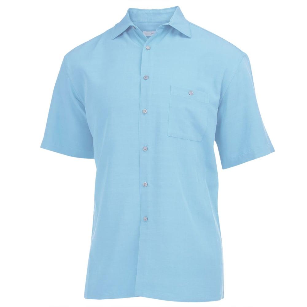 CAMPIA Men's Solid Slub Woven Shirt - TURQUOISE