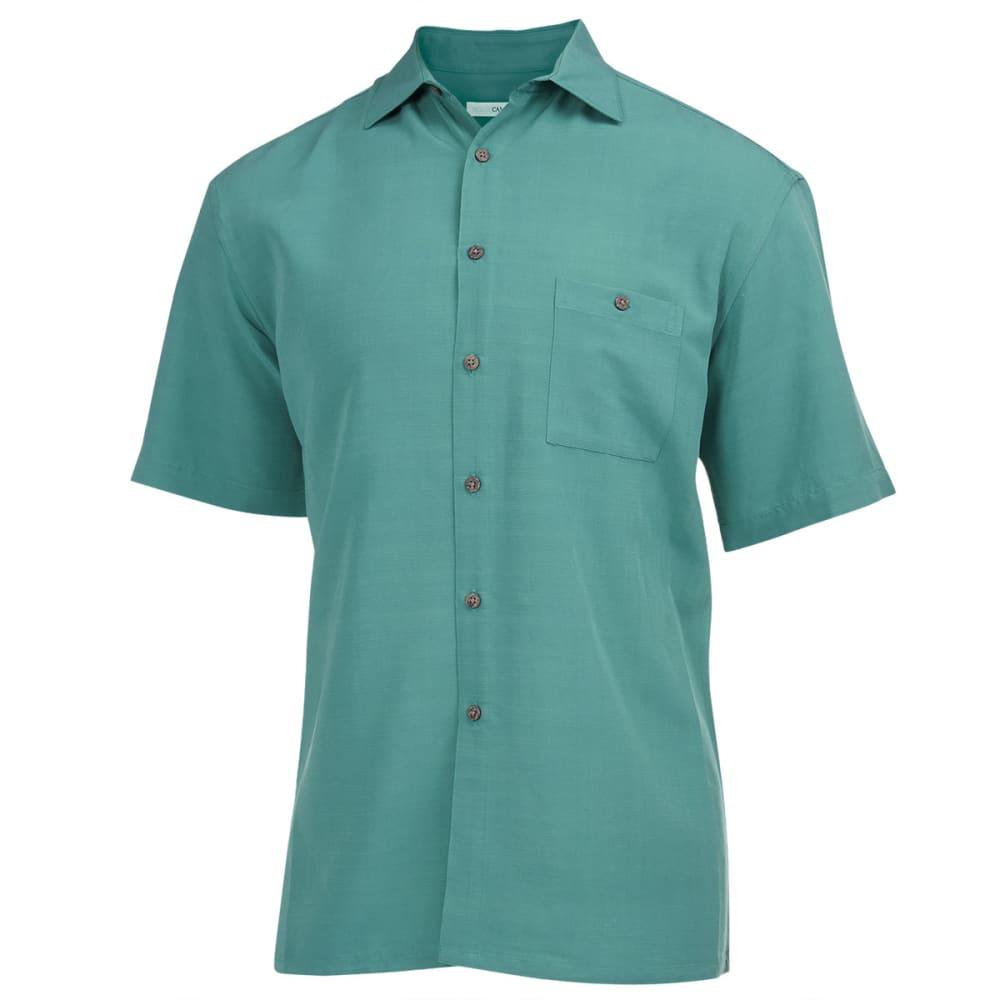 CAMPIA Men's Solid Slub Woven Shirt - N. OLIVE