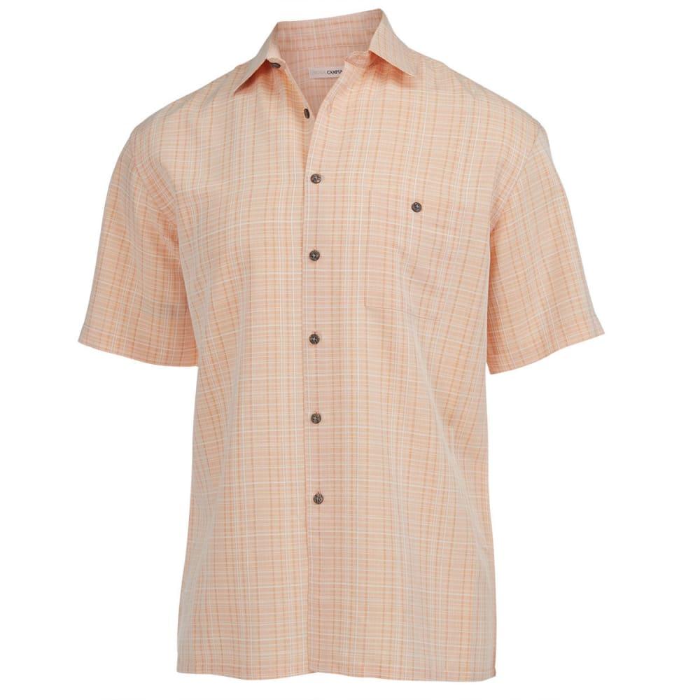 CAMPIA MODA Men's Textured Plaid Shirt - BITTER ORANGE