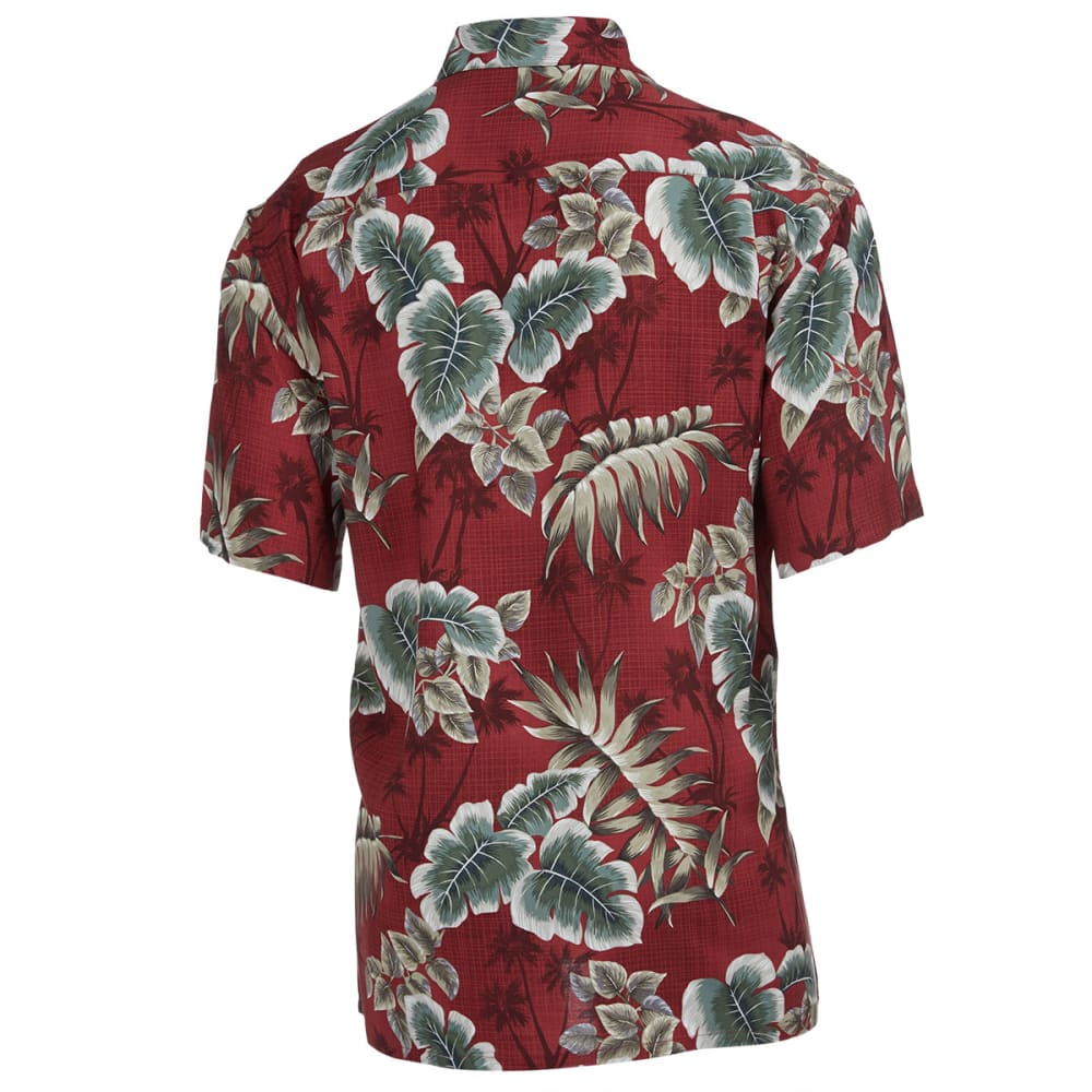 CAMPIA Men's Tropical Floral Short-Sleeve Shirt - RED