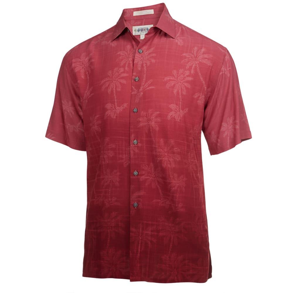 CAMPIA MODA Men's Tonal Tropical Short-Sleeve Woven Shirt - RED