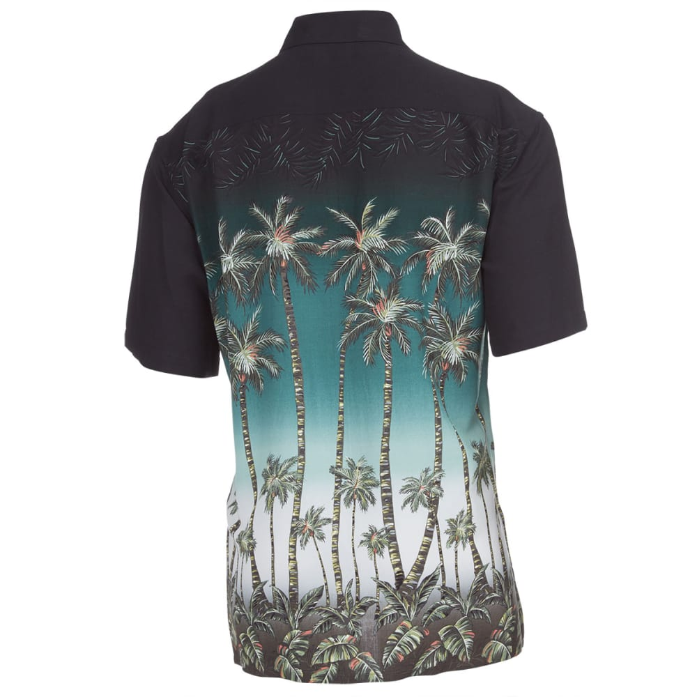 CAMPIA MODA Men's Tropical Palm Tree Short-Sleeve Woven Shirt - OLIVE