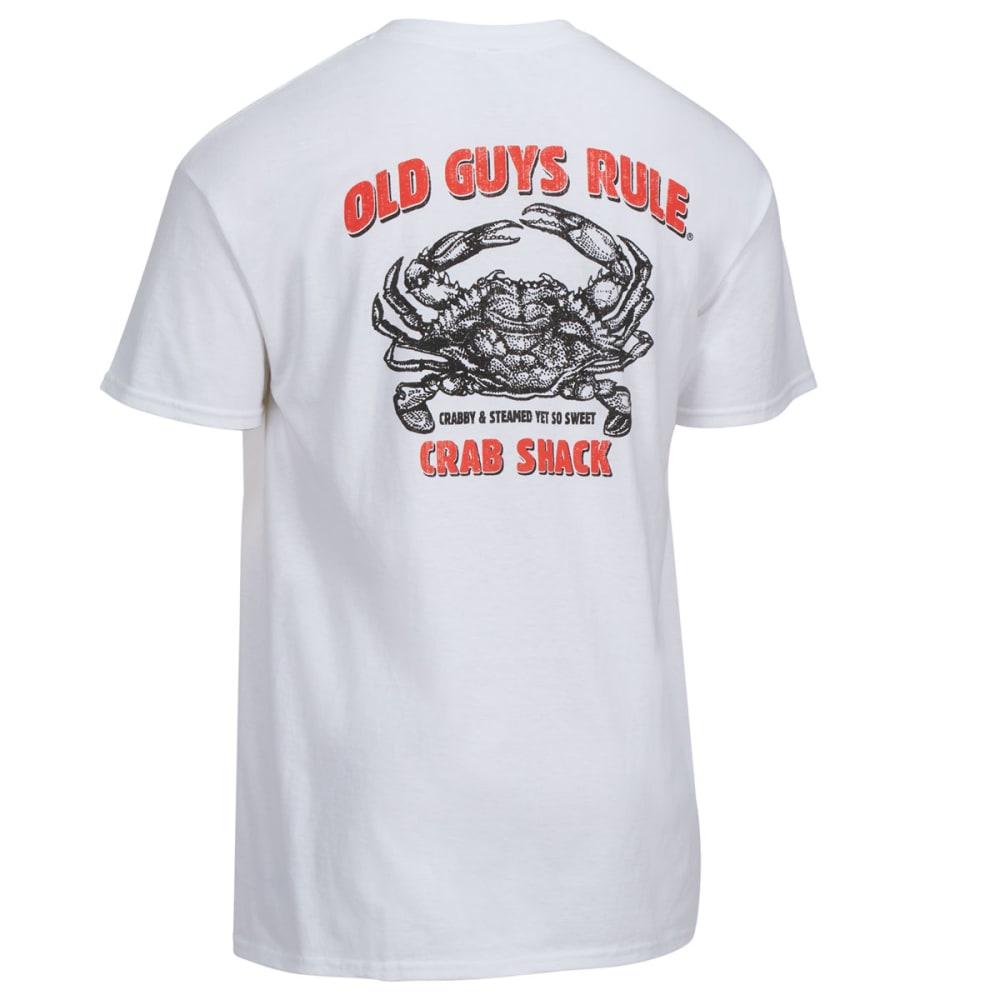 OLD GUYS RULE Men's Crab Shack Tee - WHITE