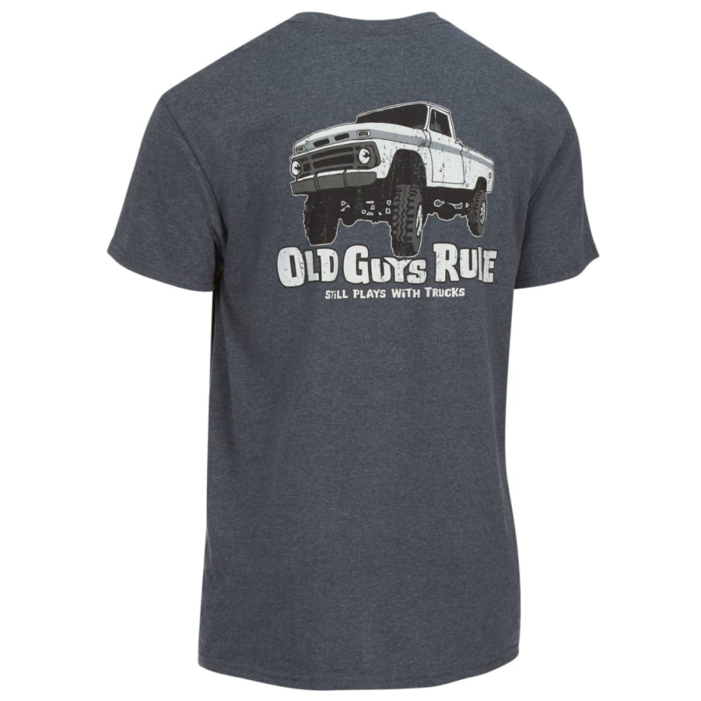 OLD GUYS RULE Men's Still Plays with Trucks 4x4 Tee - DK HEATHER GREY