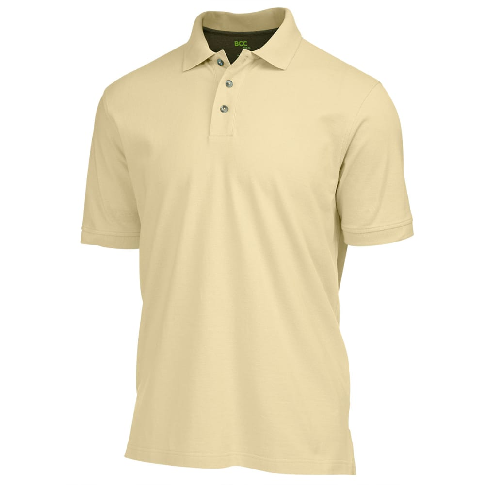BCC Men's Solid Pique Polo - YELLOW