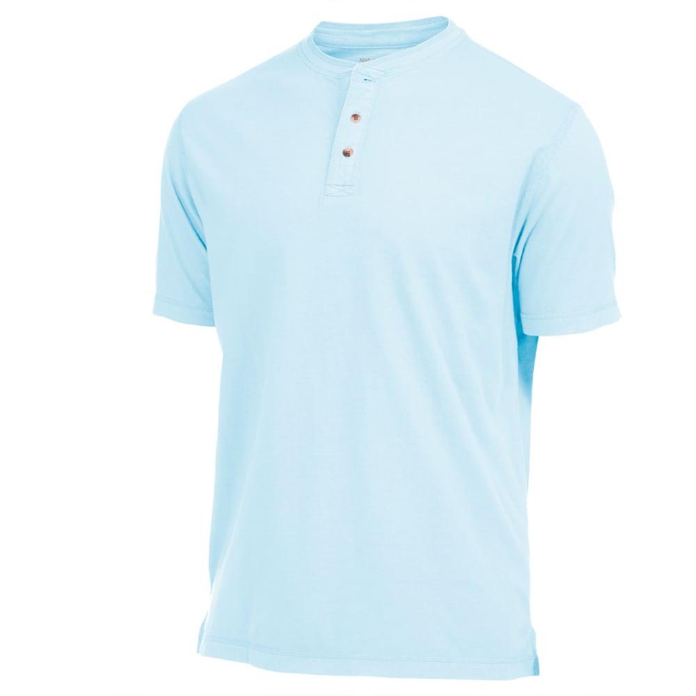 NATURAL BASIX Men's Garment Dyed Henley Shirt - SPEARMINT