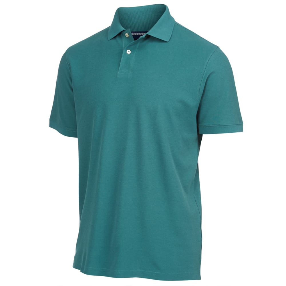 RUGGED TRAILS Men's Easy Care Pique Polo - KELLY GREEN