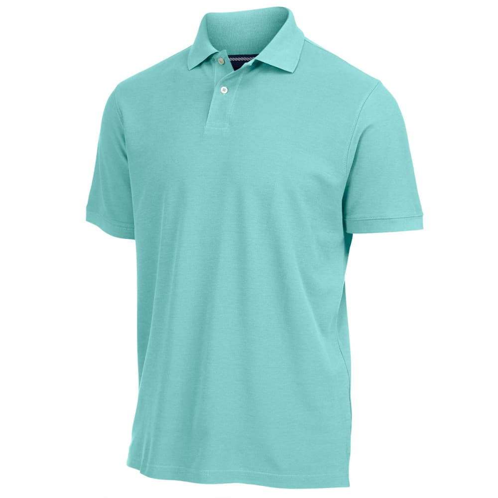 RUGGED TRAILS Men's Easy Care Pique Polo - HOLIDAY