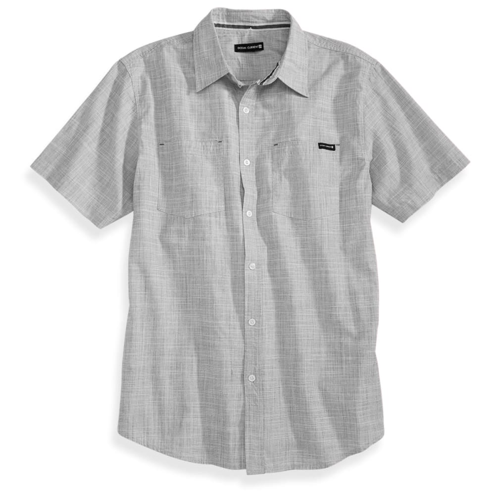OCEAN CURRENT Guys' Avellana Crosshatch Shirt - GUN