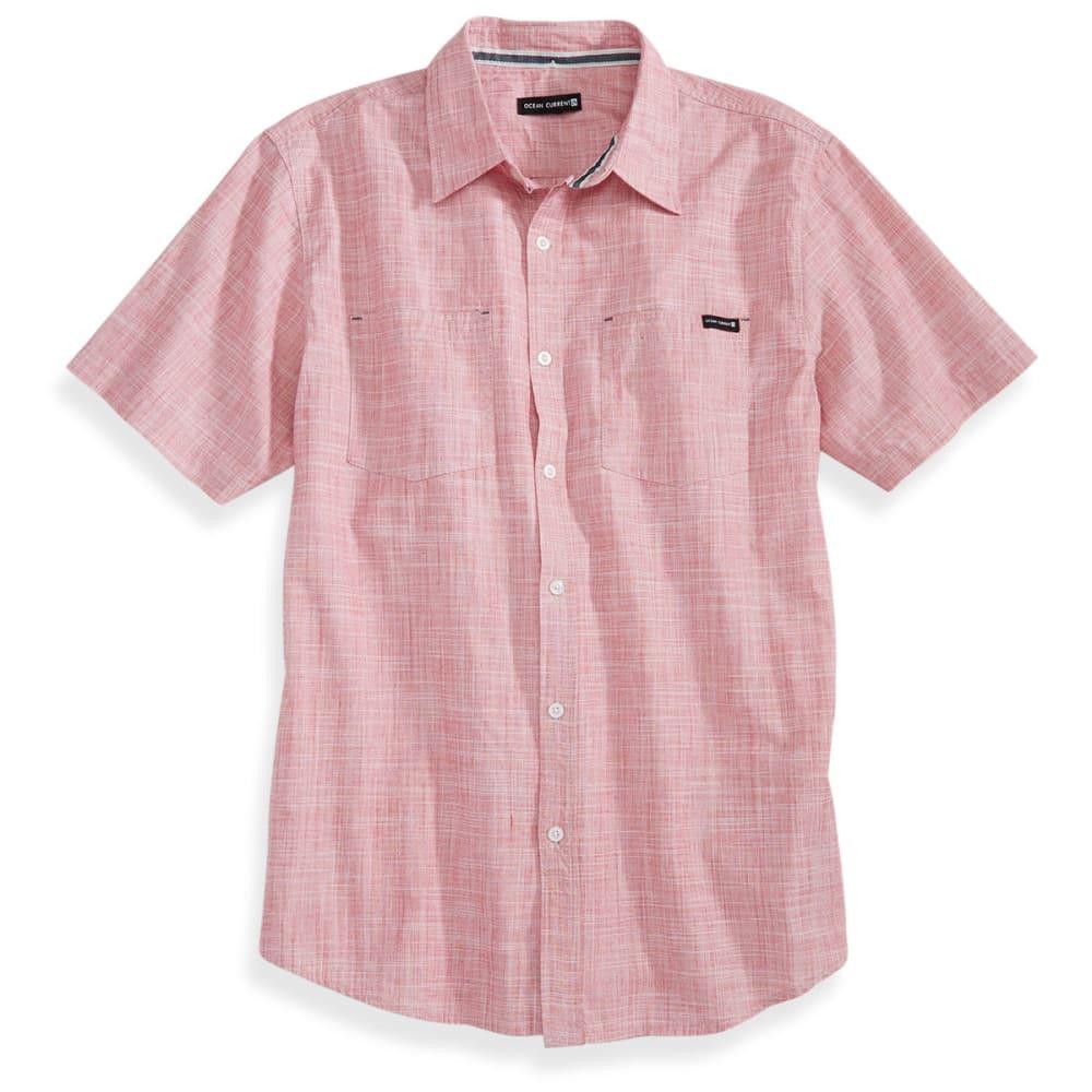 OCEAN CURRENT Guys' Avellana Crosshatch Shirt - NEW RED