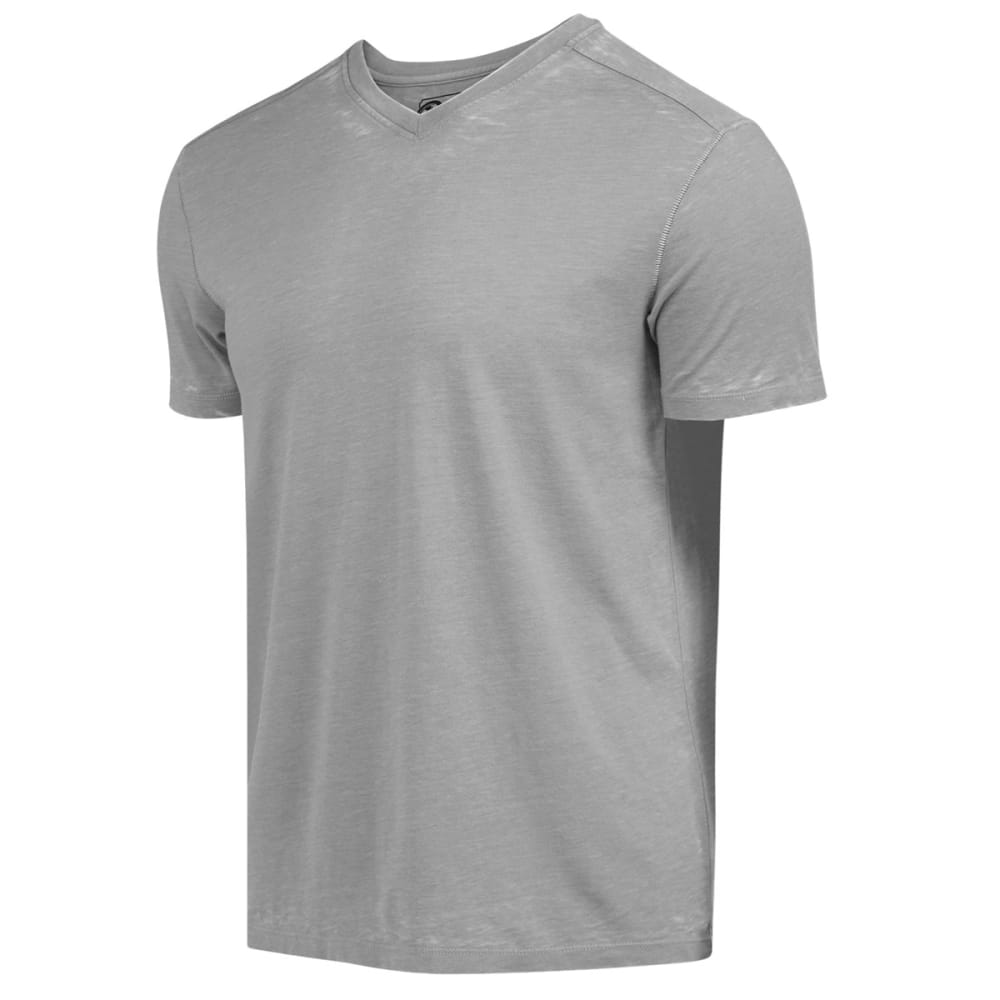 RETROFIT Young Men's Jersey V-Neck Burnout Tee - BLUE/GREY