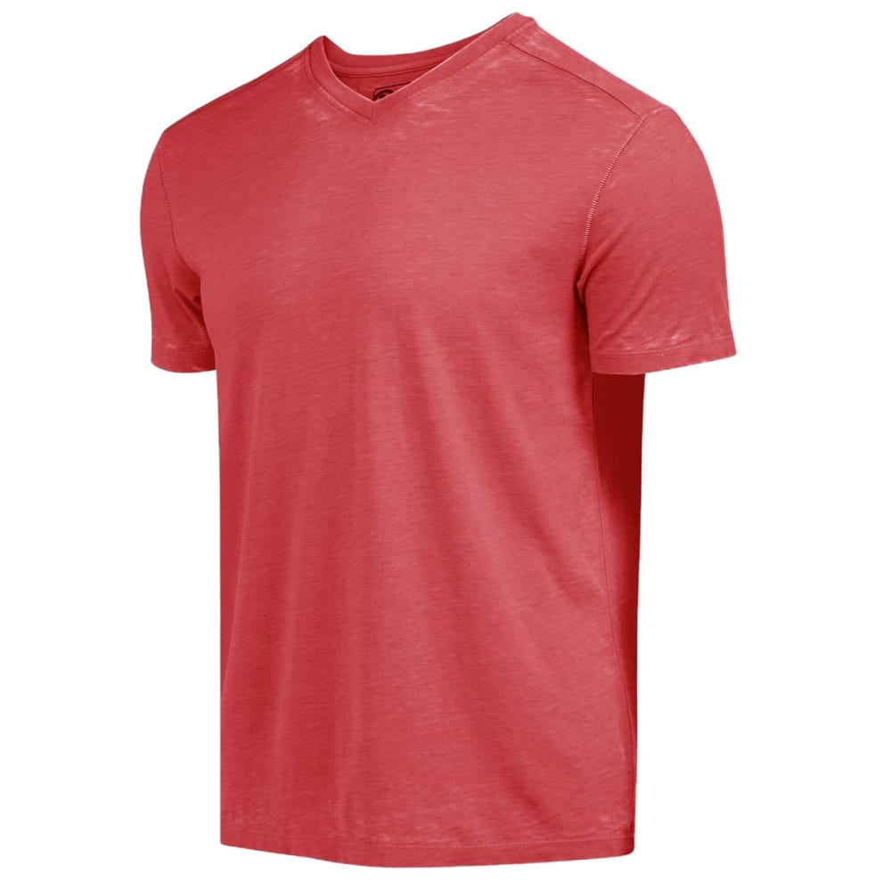 RETROFIT Young Men's Jersey V-Neck Burnout Tee - ROJO