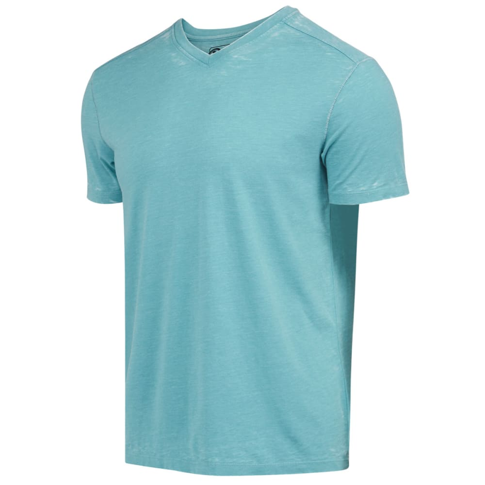 RETROFIT Young Men's Jersey V-Neck Burnout Tee - AQUA HTR