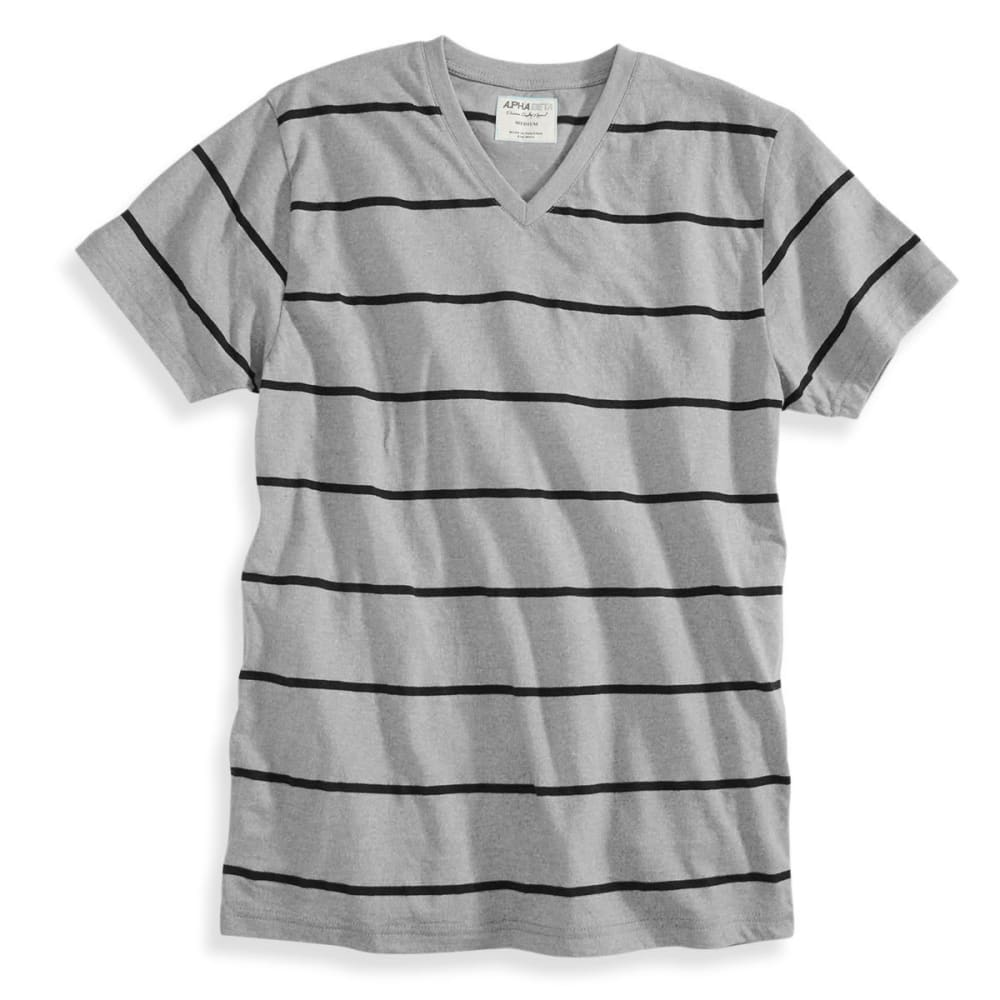 ALPHA BETA Guys' Short-Sleeve Stripe V-Neck Tee - PALOMA