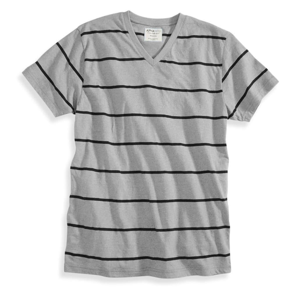 ALPHA BETA Guys' Short-Sleeve Stripe V-Neck Tee - PALOMA