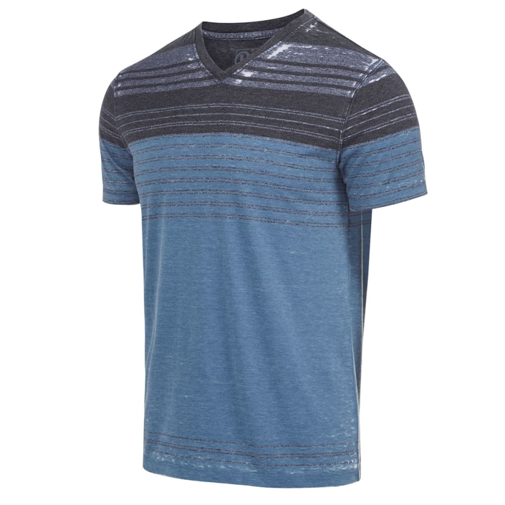 RETROFIT Young Men's Stripe V-Neck Burnout Tee - STELLAR