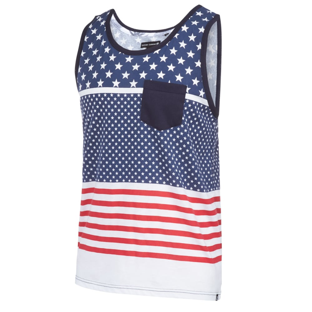 OCEAN CURRENT Men's Sparky Flag Tank Top - INDIGO