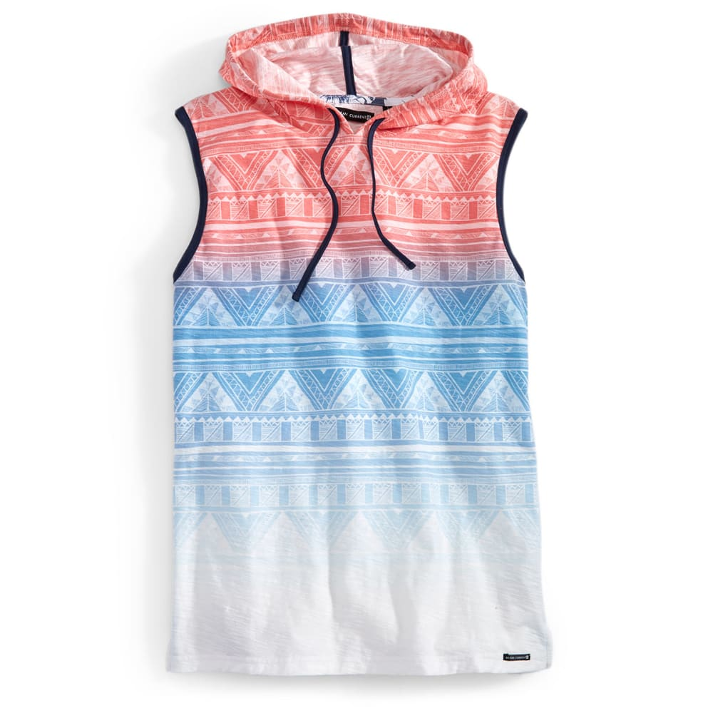 OCEAN CURRENT Guys' Hooded Aztec Tank - WHITE