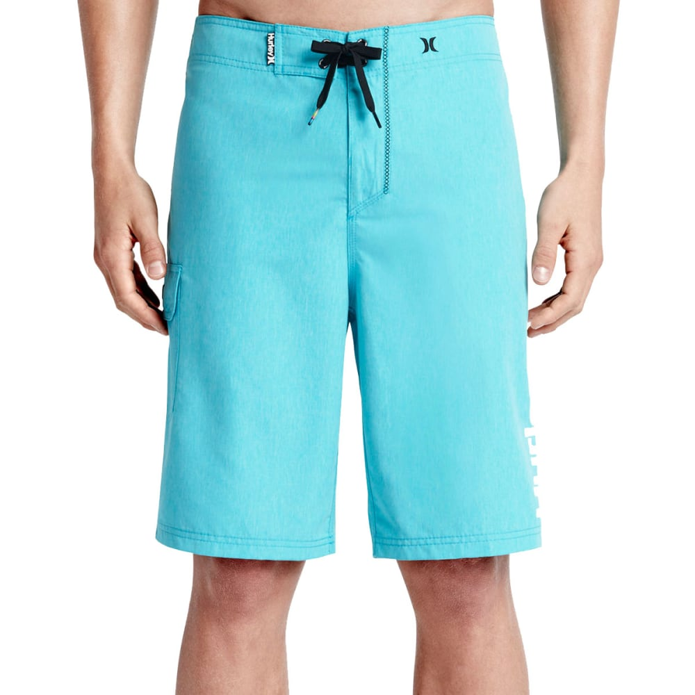 HURLEY Men's Heathered One And Only Boardshorts - BETA BLUE