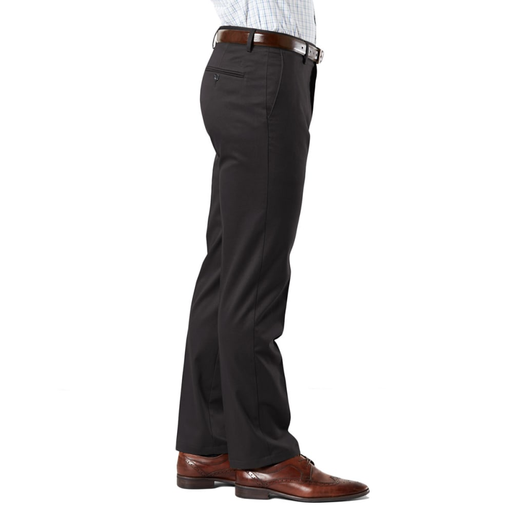DOCKERS Men's Signature Stretch Slim Khakis - BLACK  0026