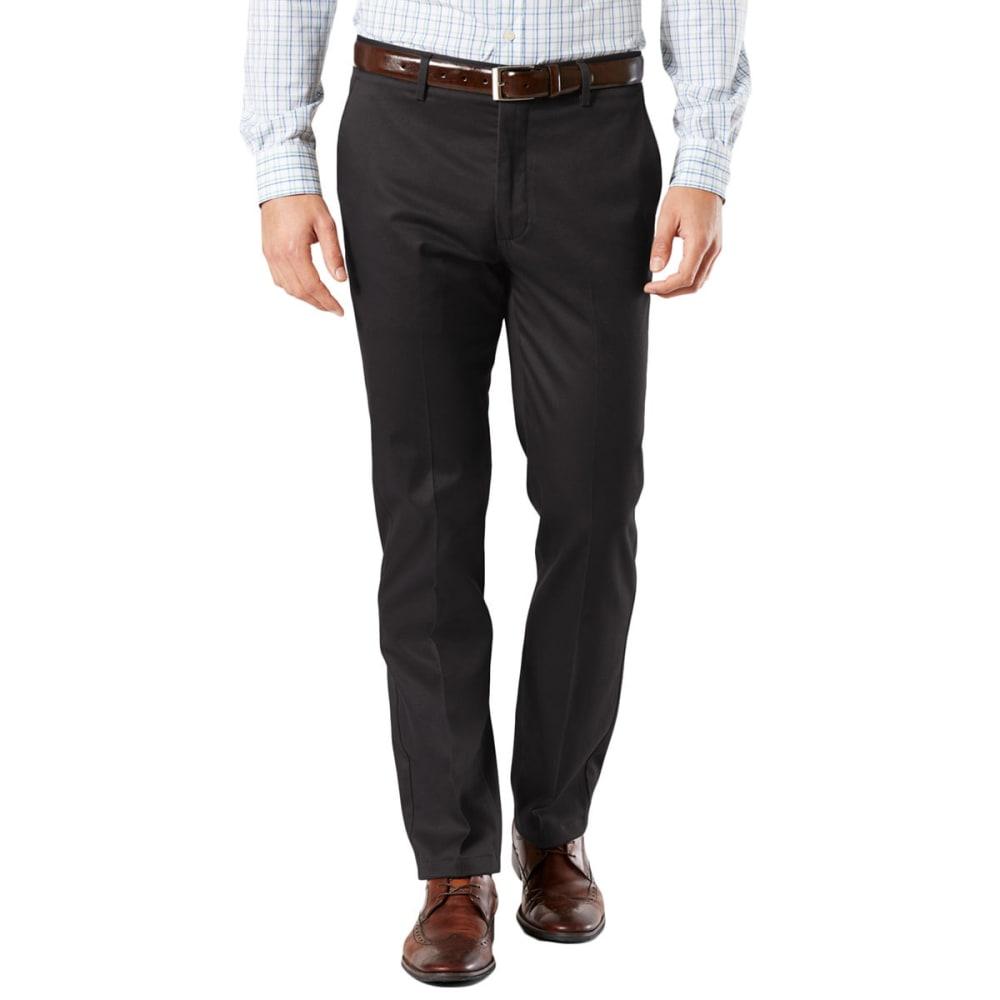 DOCKERS Men's Signature Stretch Slim Khakis - BLACK  0026