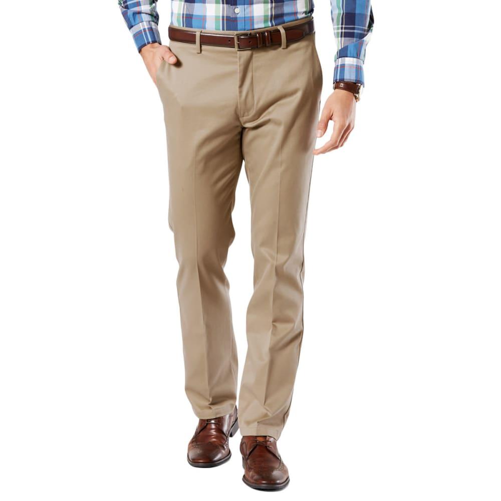 DOCKERS Men's Signature Stretch Slim Khakis - TIMBERWOLF  0013
