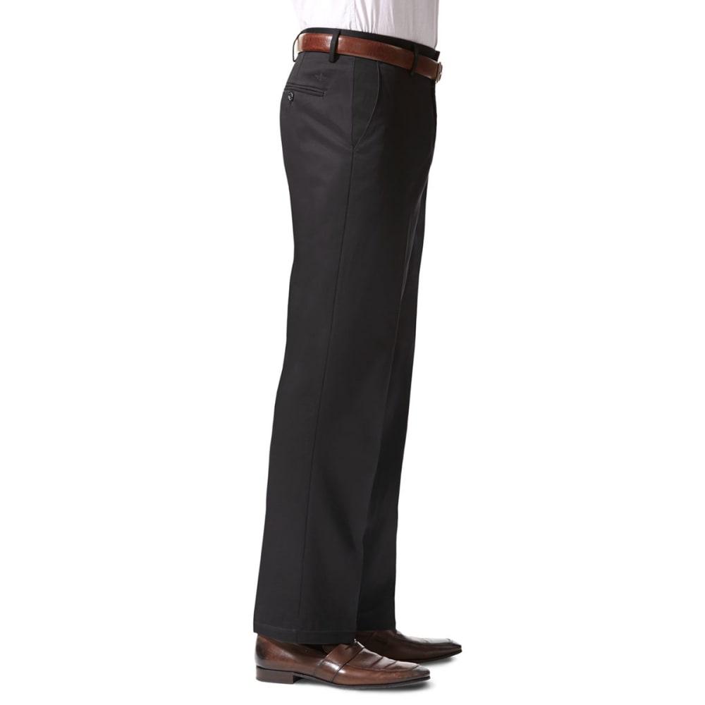 DOCKERS Men's Signature Stretch Straight-Leg Khakis - BLACK  0012