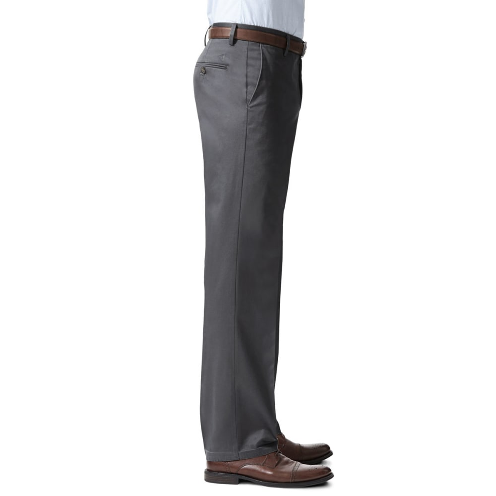 DOCKERS Men's Signature Stretch Straight-Leg Khakis - CHR GREY HTHR 0011