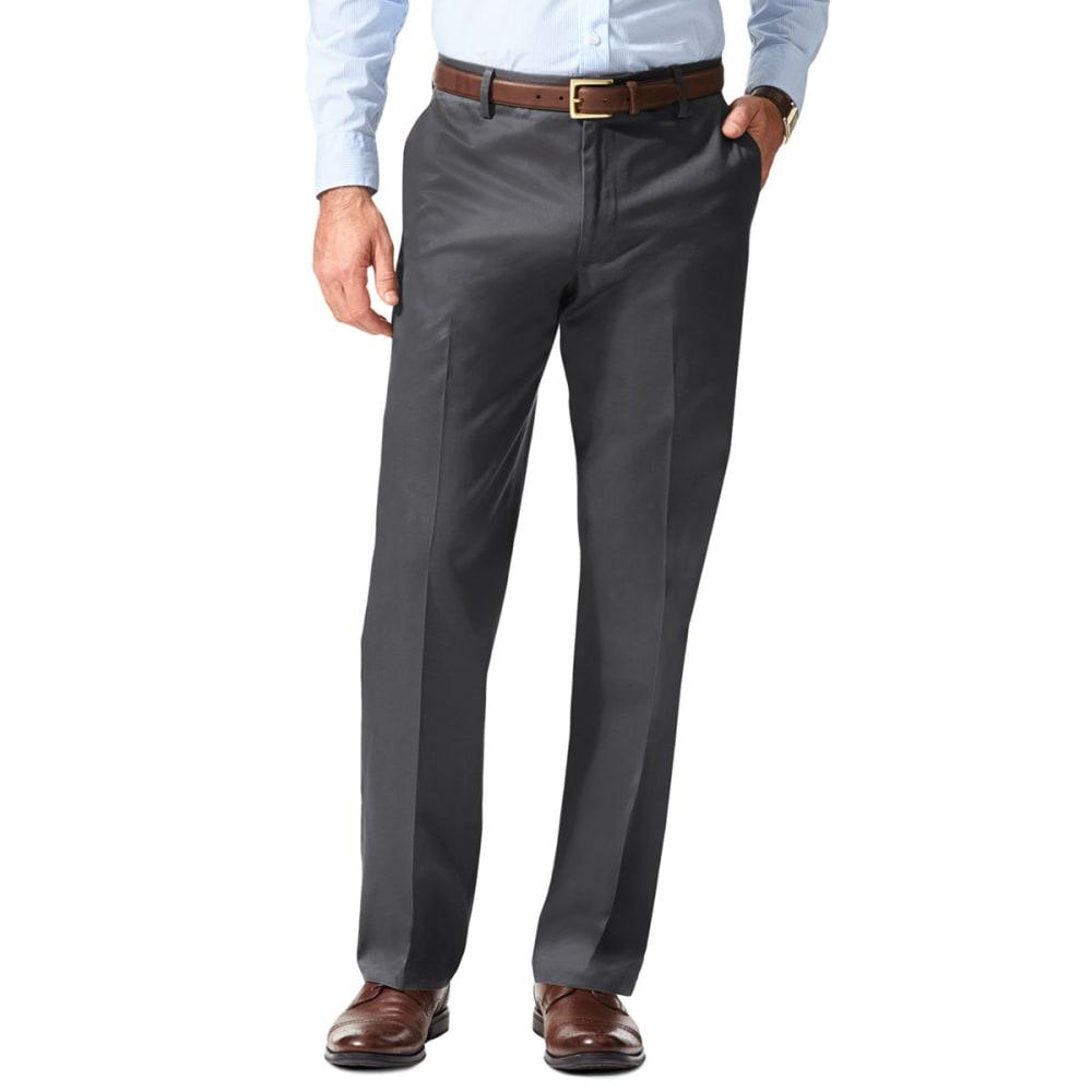 DOCKERS Men's Signature Stretch Straight-Leg Khakis - CHR GREY HTHR 0011