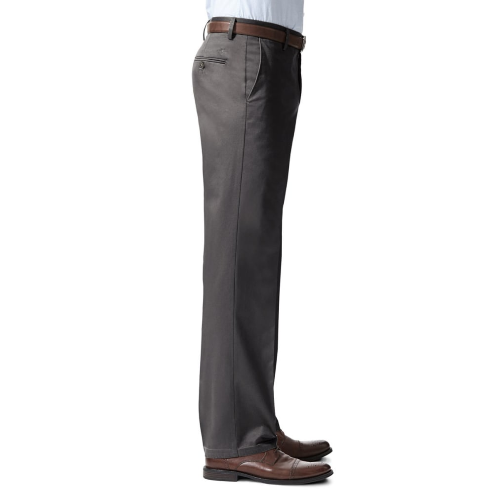 DOCKERS Men's Signature Stretch Straight-Leg Khakis - STEELHEAD  0010