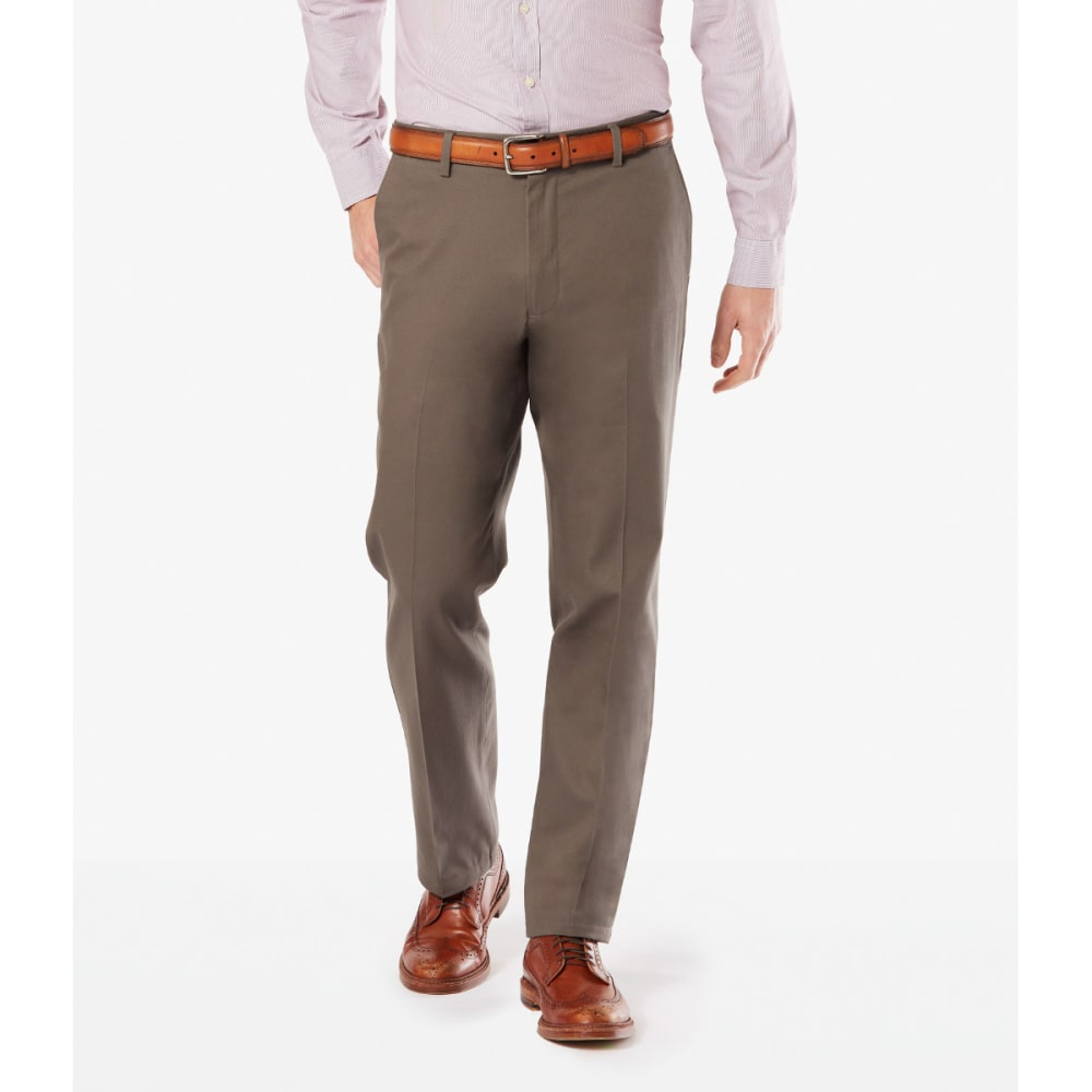DOCKERS Men's Signature Stretch Straight-Leg Khakis - DK PEBBLE 0013