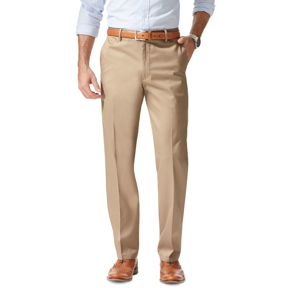 DOCKERS Men's Signature Stretch Straight-Leg Khakis - TIMBERWOLF  0008