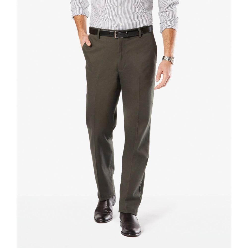 DOCKERS Men's Signature Stretch Straight-Leg Khakis - OLIVE GROVE 0009