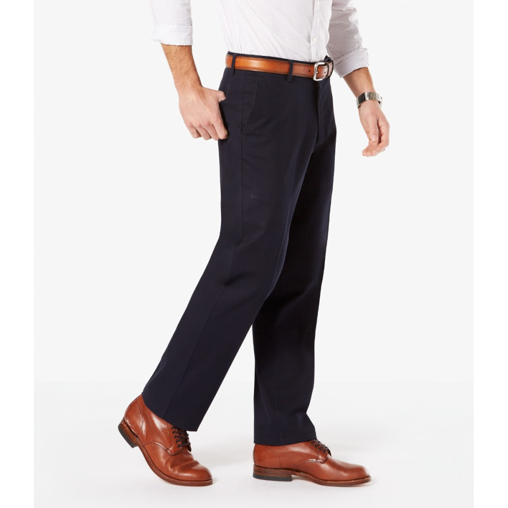 DOCKERS Men's Signature Stretch Straight-Leg Khakis - DOCKERS NVY 0006
