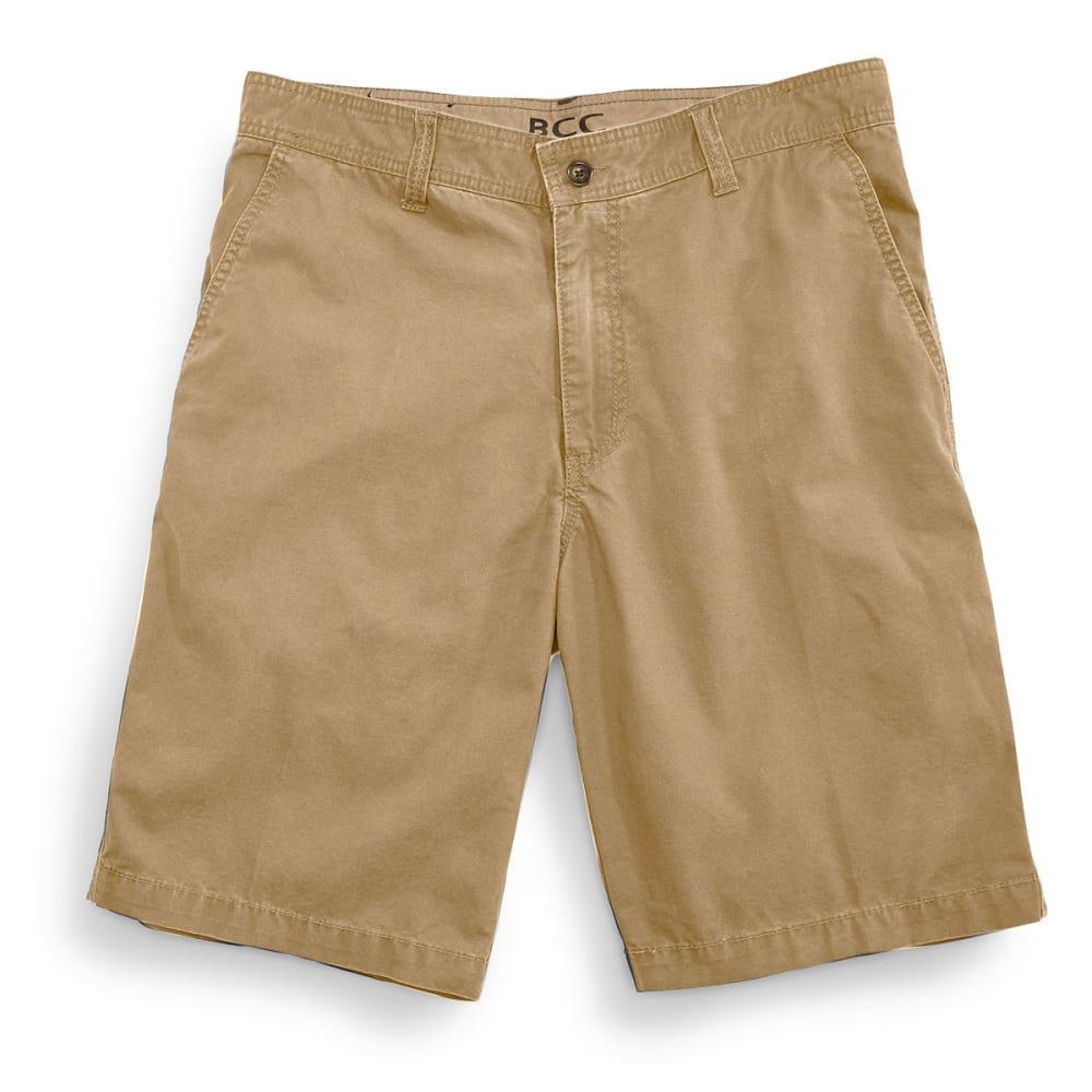 BCC Men's Flat Front Shorts - DESERT CAMEL