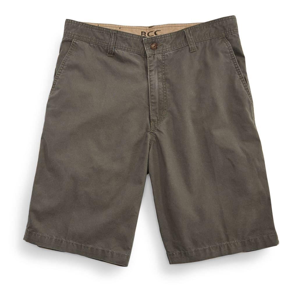 BCC Men's Flat Front Shorts - OLIVE