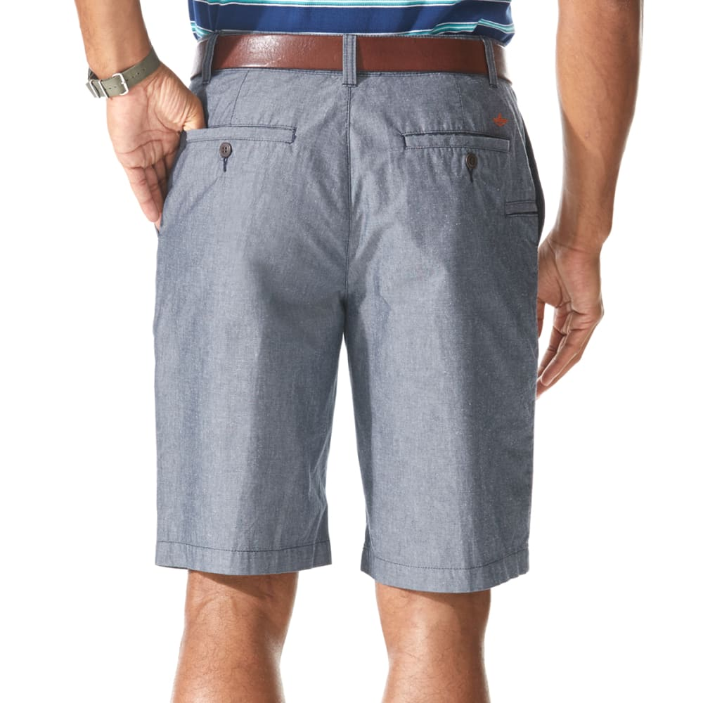 DOCKERS Men's Flat Front Perfect Shorts - NAVY