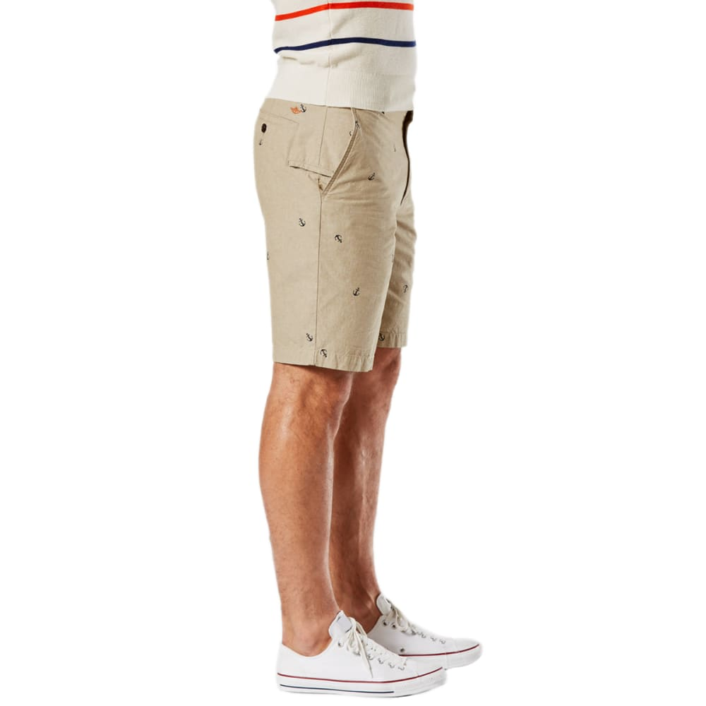 DOCKERS Men's Pismo Anchor Perfect Flat-Front Shorts - SAND/OFF WHITE
