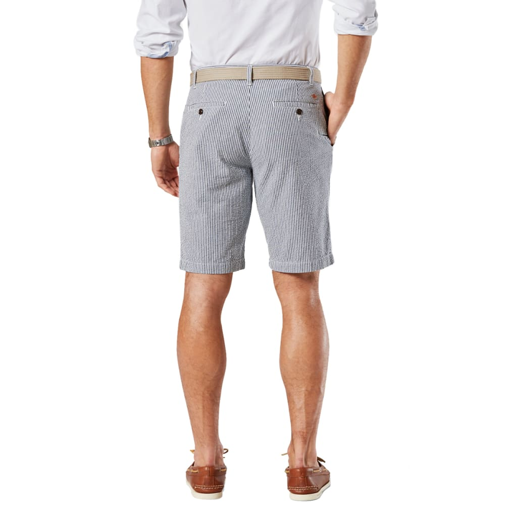 DOCKERS Men's Ventura Seersucker Shorts - NOON BLUE